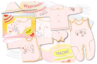 Terjan 5 delni set za dojenčke Ekrii barva 143