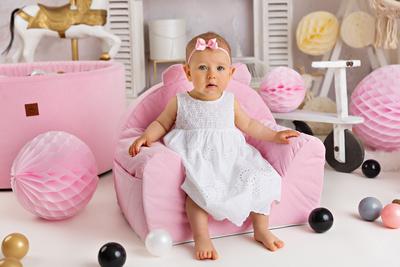 Royal Child  Fotelj Velvet Pink 178788