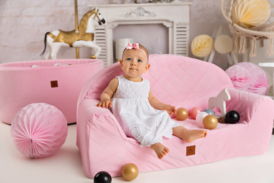 Royal Child Sofa luksuzna Sofa - fotelj  Pink 178701
