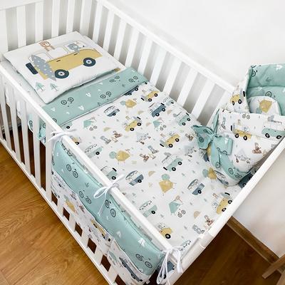 Amumu posteljnina s polnilom medvedki  75/100cm - 469
