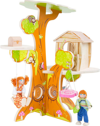 LEGLER lesena Hišica na drevesu z  lutkami 7807