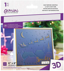 GEMINI Mapa za vtiskovanje, reliefna - teksturna 3D Night Before Christmas GEM-EF6-3D-NB