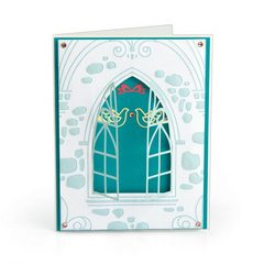 Sizzix • Impresslits embossing folder Wedding window, Mapa + Šablone 663600