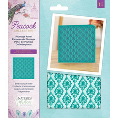 Crafter's Companion Plumage Panel teksturna mapa Embossing Folder NG-PEA-EF5-PP