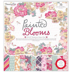 SET papirjev  PAINTED BLOOMS,30X30, SET36, TC DCPAP049
