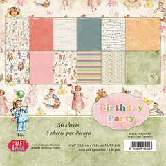 SET  papirjev, 30x30cm,  Birthday Party, set 12 kos, ZE CPB-BP30