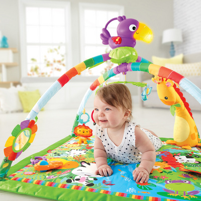 FISHER PRICE Rainforest Melodies & Lights Deluxe podloga-blazina za igranje FPGYM01