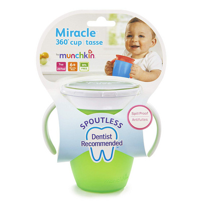 MUNCHKIN  Miracle 360 Trainer Cup Green 207ml MKNFED42-GRN