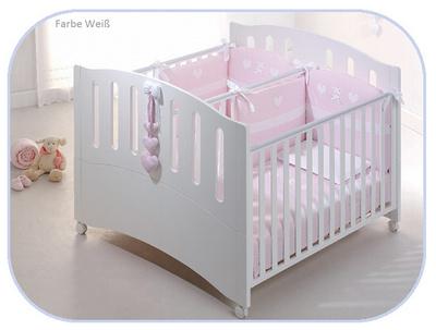 Azzurra posteljica za dvojčke Bela  GEMINI-01