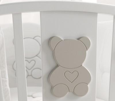 AZZURRA FUNKY zibelka BELA/WHITE z rjavim medvedkom