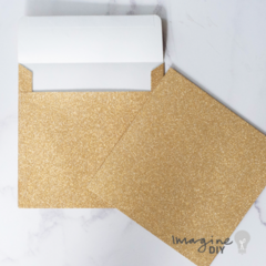 GOLD GLITTER ENVELOPE zlata kuverta GGE