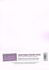 Crafter's Companion SATEN Finish Printer Paper, možnost tiskanja, CC SATIN001