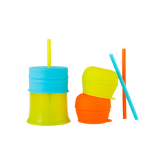 BOON SNUG Straw and Cup, steklenička z slamico BON-FED05