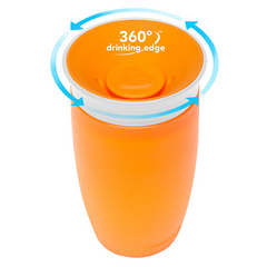 MUNCHKIN Miracle 360 Sippy Cup Orange 296ml, skodelica MKNFED43-ORG