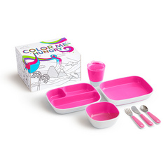 MUNCHKIN Color Me  jedilni set Pink 7Pc, MKNFED30-PNK