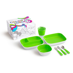 MUNCHKIN Color Me jedilni set Green 7Pc, MKNFED30-GRN