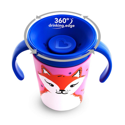 MUNCHKIN Miracle 360 Eco Trainer Cup Fox 177ml skodelica roza MKNFED46-FOX