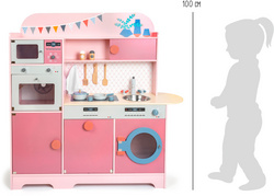 LEGLER Children's Play Kitchen Gourmet Pink, 11465