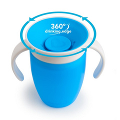MUNCHKIN Miracle 360 Trainer Cup skodelica Blue 207ml, MKNFED42-SKY