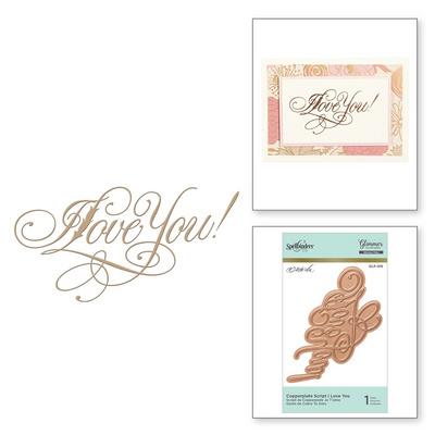 Spellbinders Copperplate Script I Love You , za vročo folijo GLP-016