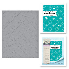 Spellbinders Wedding Ring Stitch Embossing Folder, teksturna mapa SES-012