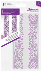 Gemini Decorative Lace Border Embossing Folder, Teksturna mapa GEM-EF-DEC