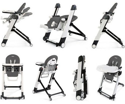 PEG PEREGO stolček Siesta Follow Me Wonder Grey 3314936
