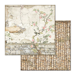 Stamperia Small Bricks with Tree 31,5cm X 30,5cm Paper papir Sheets, SBB678