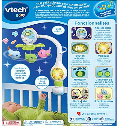 Vtech Song Birds Travel Mobile, Potovalni vrtiljak VTCMOB07