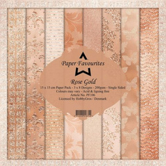 Dixi Craft Rose Gold 15x15 cm Paper papir set  PF106