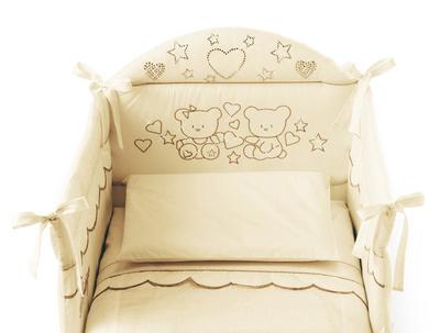 PALI posteljica MARYLIN magnolia z vzmetnico in Luxury posteljnino