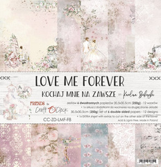 Craft o'clock - Love Me Forever Papir set 30x30 cm, CC-ZD-LMF-F8