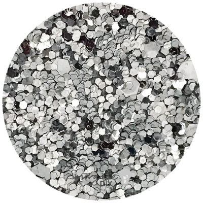 SEQUIN GLITTER PAPER – SILVER, papir z bleščicami srebrn 110