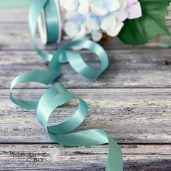 NILE BLUE SATIN RIBBON 19mm trak saten 10 metrov rola 7776